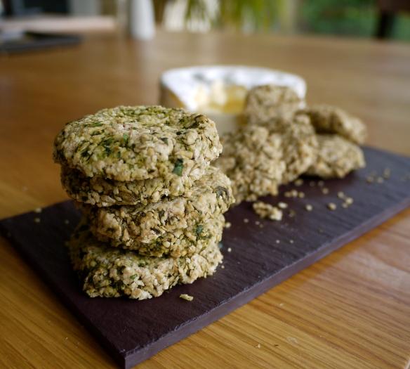 herb oatcakes