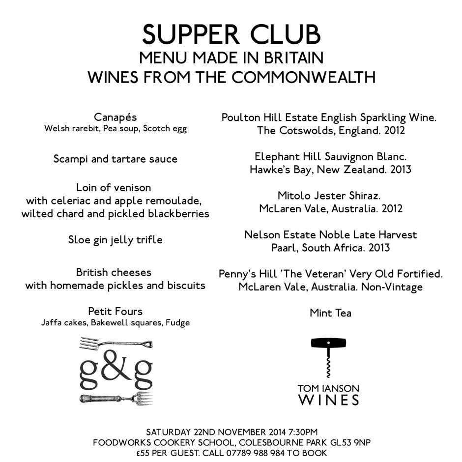 supperclub menu