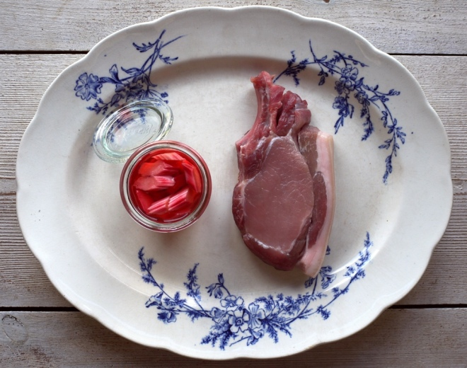 P1020944 - rhubarb and pork